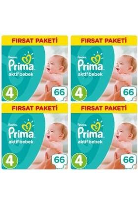 Prima Aktif Bebek 4 Numara Fırsat Paketi 66 x 4=264 Adet