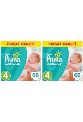 Prima Aktif Bebek 4 Numara Fırsat Paketi 66 x 2=132 Adet
