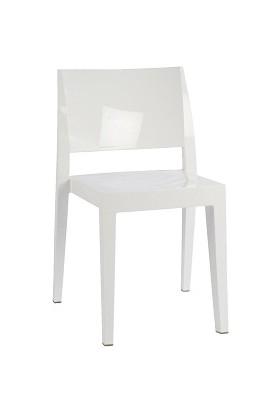 Papatya Gyza Sandalye Solid Beyaz