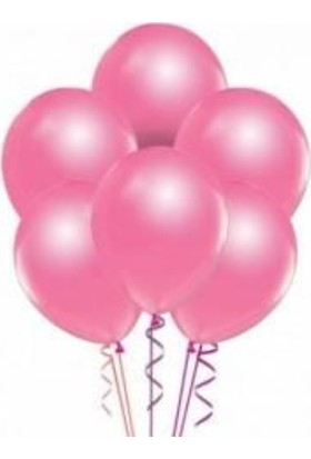 Tatlı Günler Metali̇k Pembe Balon 10 lu