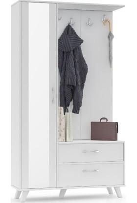 Astra Beyaz Vesti̇yer Portmanto Ayakkabilik