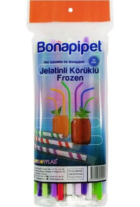 Ambalaj Pazarı Bona Jelatinli Körüklü Frozen Pipet - 50'li