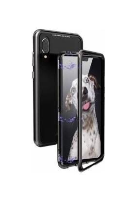 Tbkcase Huawei P20 Lite 360 Mıknatıslı Metal Kılıf Siyah + Nano Ekran Koruyucu