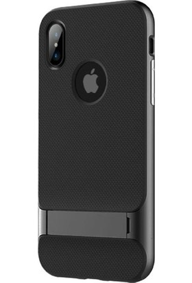 Tbkcase Apple iPhone XS Standlı Kapak Gri