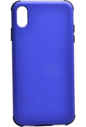 Tbkcase Apple iPhone XS Max (Plus) Darbe Korumalı Soft Silikon Kılıf Mavi
