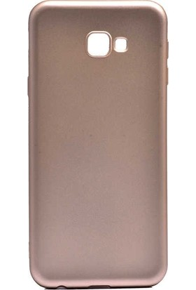 Tbkcase Samsung Galaxy J4 Plus Lüks Silikon Kılıf Gold + Nano Ekran Koruyucu