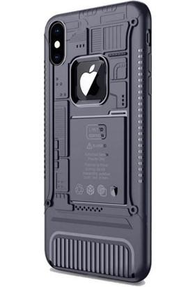 Tbkcase Apple iPhone XS Regro Tasarım Silikon Kılıf Lacivert