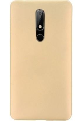 Tbkcase Nokia 7.1 Lüks Silikon Kılıf Gold