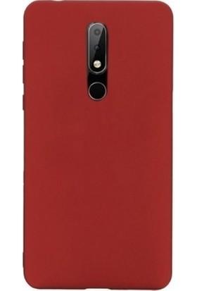 Tbkcase Nokia 7.1 Lüks Silikon Kılıf Kırmızı