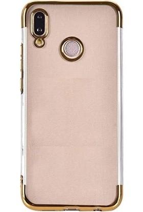 Tbkcase Huawei Honor Play Lüks Lazer Silikon Kılıf Gold + Nano Ekran Koruyucu