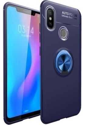 Tbkcase Xiaomi Mi A2 Lite Ravel Yüzüklü Silikon Kılıf Mavi + Nano Ekran Koruyucu