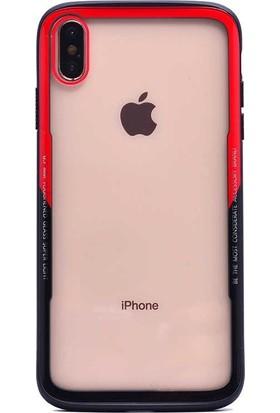 Tbkcase Apple iPhone XR Transparan Kavisli Renkli Cam Kapak Kılıf Karışık Renk + Nano Ekran Koruyucu