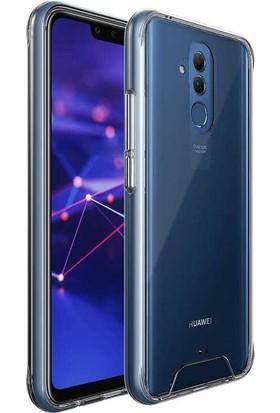 Tbkcase Huawei Mate 20 Lite Gard Ultra Sert Silikon Kılıf Şeffaf + Nano Ekran Koruyucu