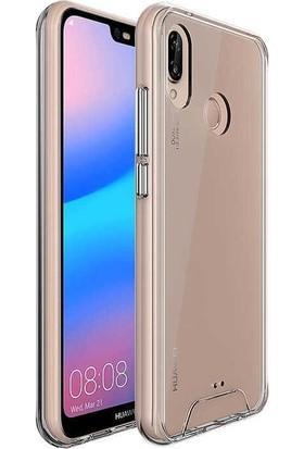 Tbkcase Huawei P20 Lite Gard Ultra Sert Silikon Kılıf Şeffaf