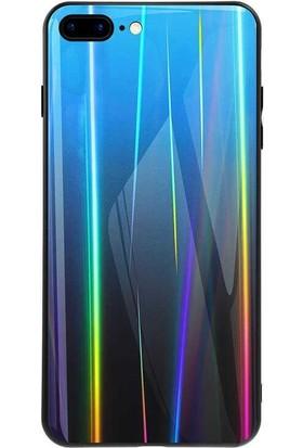 Tbkcase Apple iPhone 7 Plus Friz Cam Desenli Silikon Kılıf Mavi + Nano Ekran Koruyucu