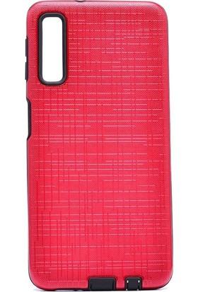 Tbkcase Samsung Galaxy A50 Tıpalı Youyou Sert Kapak Kılıf Kırmızı + Nano Ekran Koruyucu