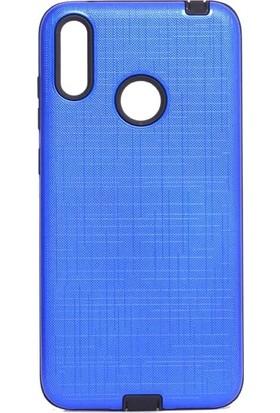 Tbkcase Samsung Galaxy M20 Youyou Silikon Kılıf Mavi + Nano Ekran Koruyucu