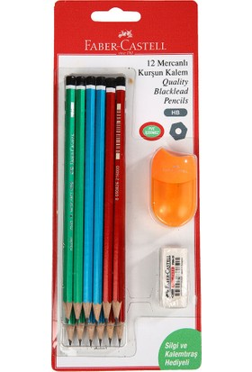 Faber Castell 12'Li Mercanlı Kurşun Kalem Seti