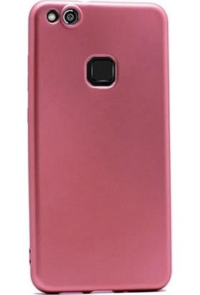 Ehr. Huawei P10 Lite Priming Mat Silikon Arka Kapak Kılıf Rose Gold + Nano Ekran Koruyucu