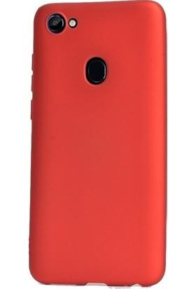 Ehr. Casper Via G3 Priming Mat Silikon Arka Kapak Kılıf Kırmızı + Nano Ekran Koruyucu