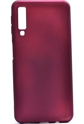 Ehr. Samsung Galaxy A2 Core Priming Mat Silikon Arka Kapak Kılıf Mürdüm + Nano Ekran Koruyucu