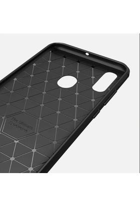 Ehr. Huawei P10 Lite Kılıf Carbon Brushed Soft TPU Silikon Huawei P10 Lite Kılıf Gri