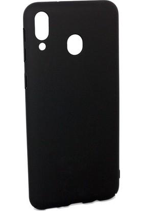 Casestore Samsung Galaxy M20 Darbe Önleyici Rubber Sert Kılıf Siyah