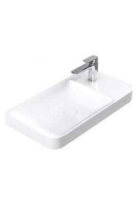 Sanovit Luxury 54 cm Konsollu Mini Lavabo Beyaz Renk