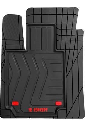 Carx Vega Universal 3D Havuzlu Oto Paspas (Her Araca Uyumlu, Kesilebilir, Dayanıklı)