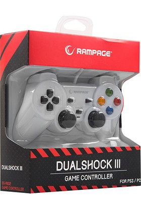 Snopy Rampage SG-R602 Ps3/pc Beyaz USB 1.8m Joypad