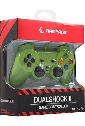 Snopy Rampage SG-R602 Ps3/pc Yeşil USB 1.8m Joypad