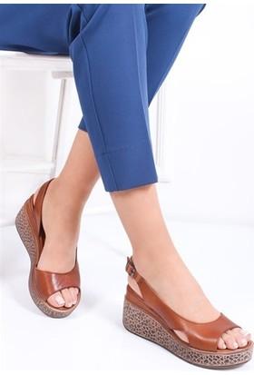 Tarçın Deri Günlük Kadın Taba Dolgu Ayakkabı TRC77-5001