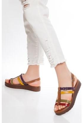 Tarçın Deri Günlük Multi-1 Kadın Sandalet Ayakkabı TRC61-3111