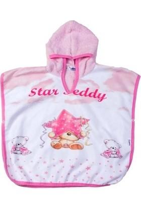 Bomdia Star Teddy Ayı Baskılı Çocuk Panço Havlu