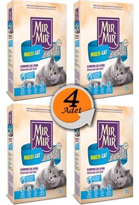 Mır Mır Multi-Cat Bentonit Kedi Kumu 5 L x 4 Adet