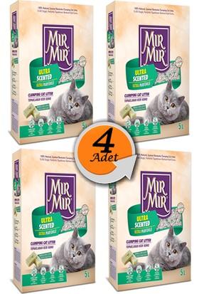 Mır Mır Marsilya Sabun Kokulu Kedi Kumu 5 L x 4 Adet