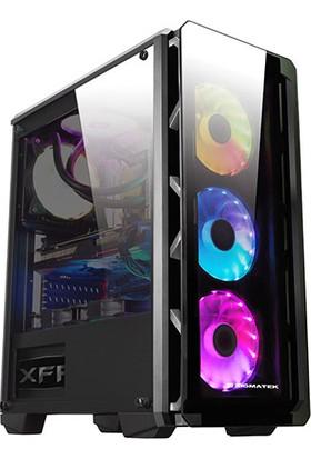 Xigmatek EN42067 Astro Metalik Gri 650W 80Plus Power + 4 Adet RGB Led Fanlı Temper Camlı Oyuncu Bilgisayar Kasası