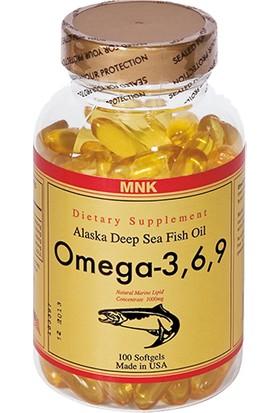 Mnk Omega 3.6.9 Balık Yağı 100 Softgel Ücretsi̇z Ayni Gün Kargo