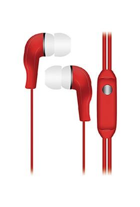 Hytech HY-K700 Mobil Telefon Uyumlu Kulak Içi Kırmızı Mikrofonlu Kulaklık