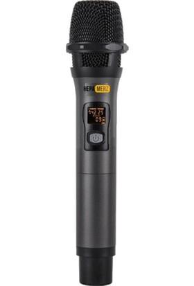 Hepa Merz Hm-8002Ee Dijital Uhf Çiftli Telsiz Kablosuz El Mikrofon