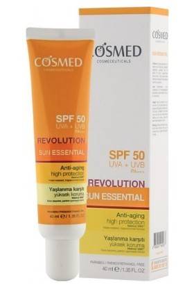 Cosmed Sun Essential Revolution Spf 50+ 40 ml Yaşlanma Karşıtı Güneş Kremi