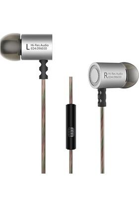Kz Ed4 Hi-Res Audio Hi-Fi Ses Mikrofonlu Kulakiçi Kulaklık - Gümüş