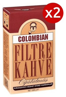 Mehmet Efendi Colombian Filter Coffee 500 grÖğütülmüş x 2' li