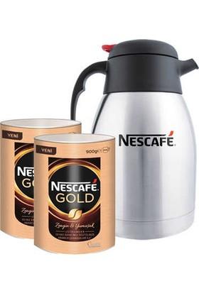 Nescafe Gold Eko Paket 900 gr x 2' li + Termos