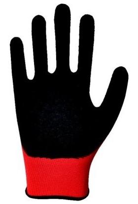 Zimak Latex Kırmızı Siyah Pütürlü Eldiven
