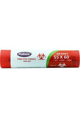 Polmix Tıbbi Atık Torbası Orta Boy 300 GR 20 Rulo