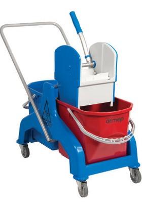 Ermop Çift Kovalı Temizlik Arabası 25 Litre