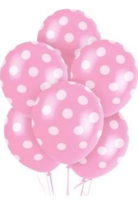 Tatlı Günler Pembe Puanti̇yeli̇ Balon 10 lu