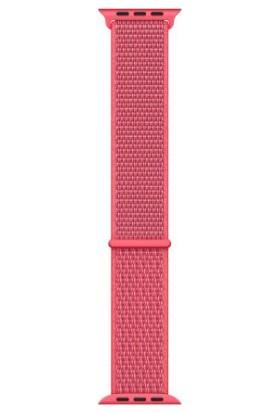 Schulzz Apple Watch Seri 2 3 4 - 42-44 mm Spor Loop Dokuma Kordon - Açık Turuncu