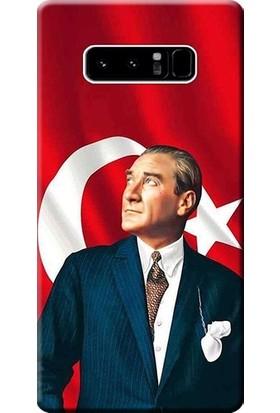 Eretna Samsung Note 8 Kılıf Silikon Baskılı Atatürk